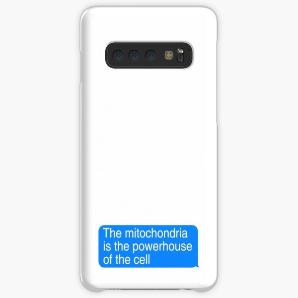the mitochondria is the power house of the cell text box imessage Samsung Galaxy Snap Case