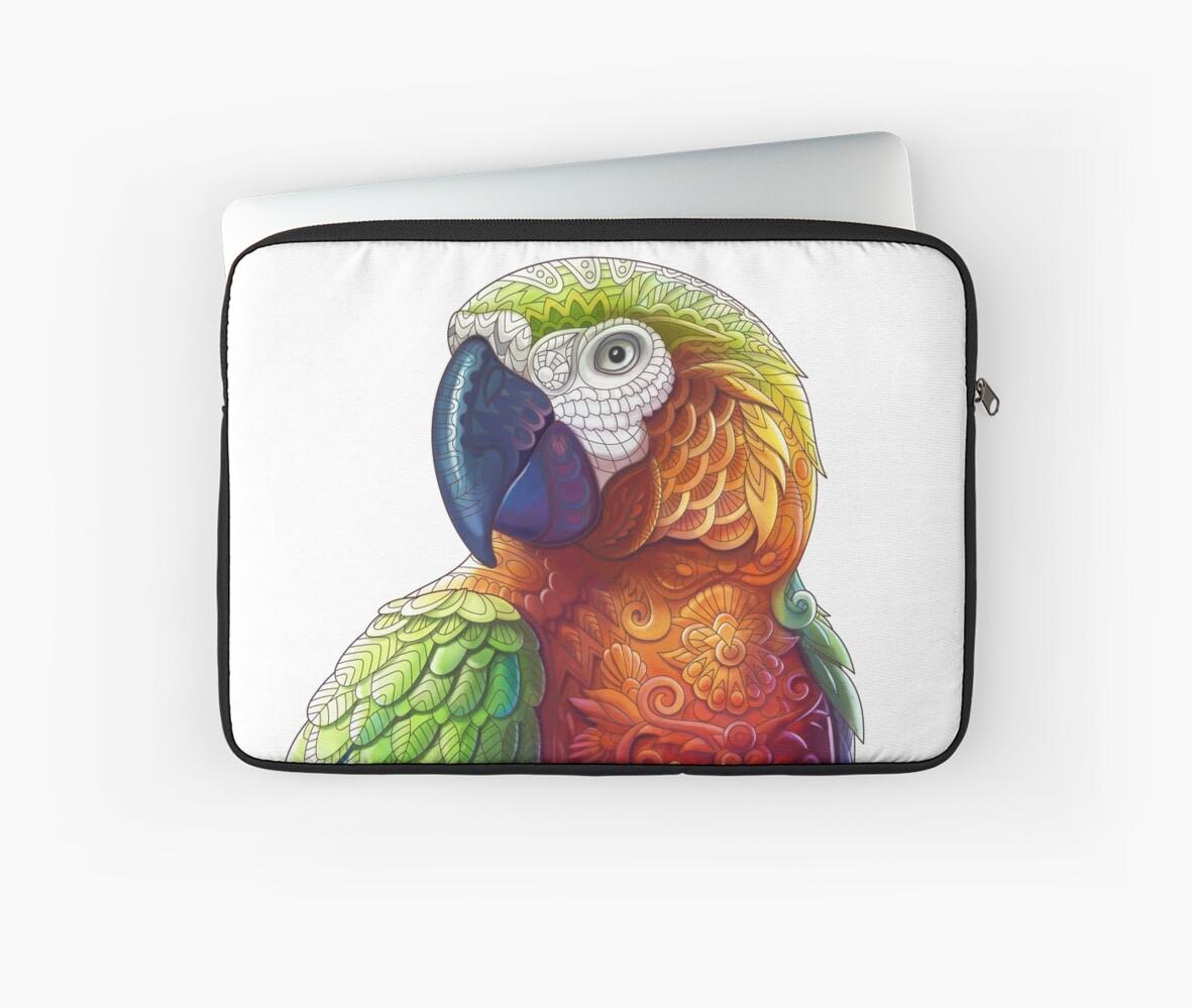 Fundas para portátil «Loro del guacamayo - pájaro tropical de la ...