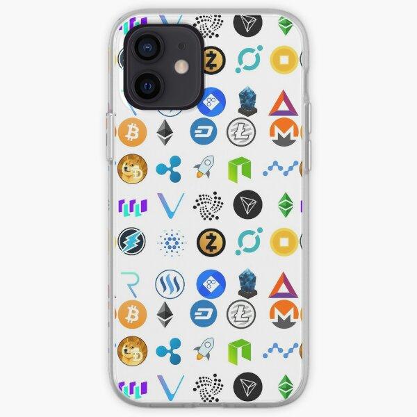 Criptomonedas Funda blanda para iPhone