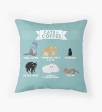 Katzen als Kaffee Dekokissen