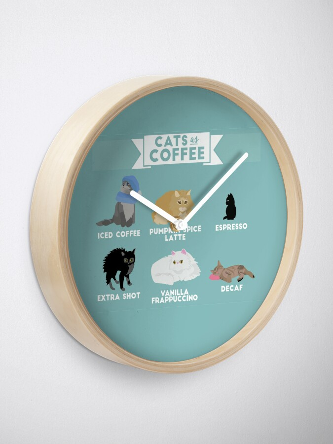 Alternate view of Cats As Coffee Clock