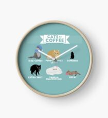 Cats As Coffee Clock