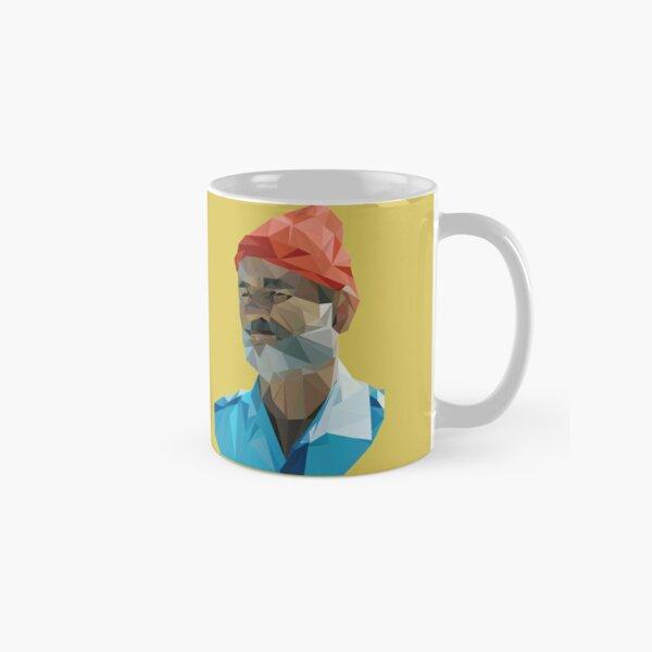 The Life Aquatic with Steve Zissou geometric low poly portrait - Bill Murray Classic Mug