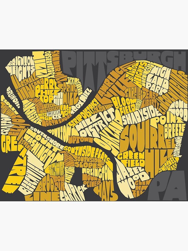 Pittsburgh Neighborhood Map by SydneyKoffler