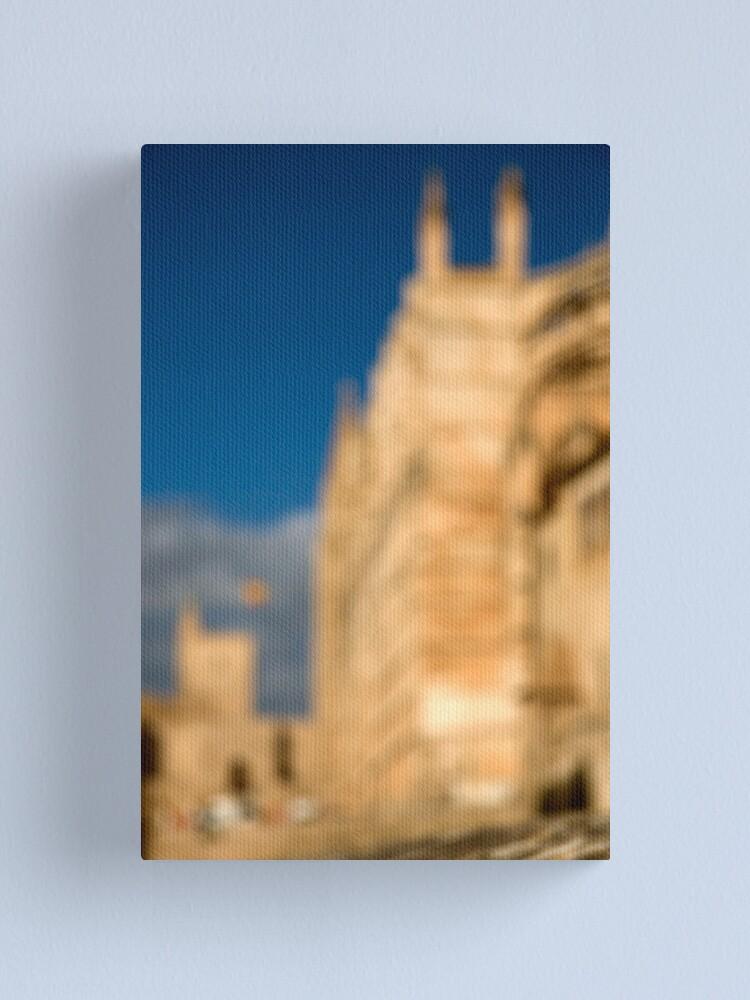 Alternate view of La Seu - Palma de Mallorcas 12th Century Cathedral Canvas Print