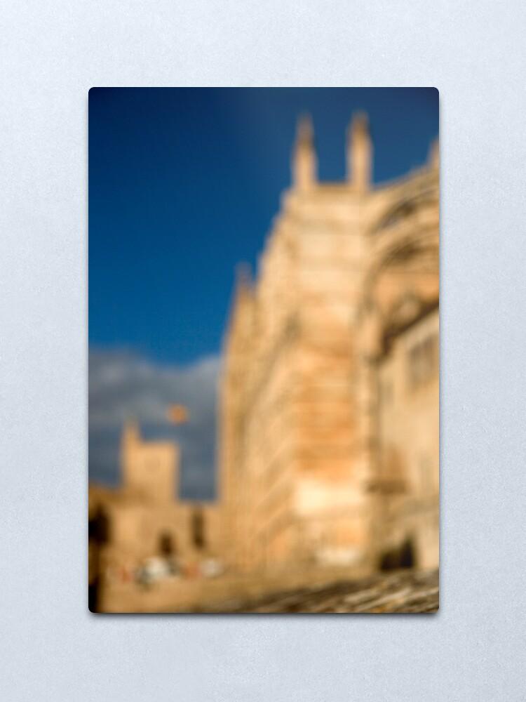 Alternate view of La Seu - Palma de Mallorcas 12th Century Cathedral Metal Print