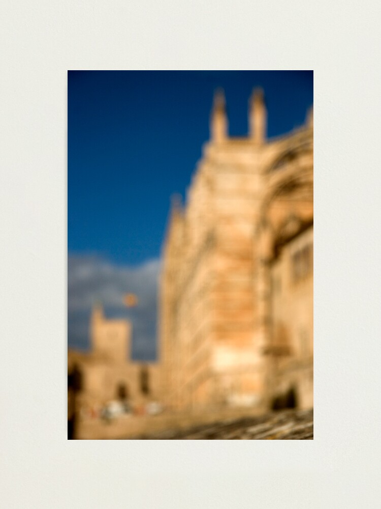 Alternate view of La Seu - Palma de Mallorcas 12th Century Cathedral Photographic Print