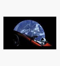 Starman in Tesla Roadster im Weltraum Fotodruck