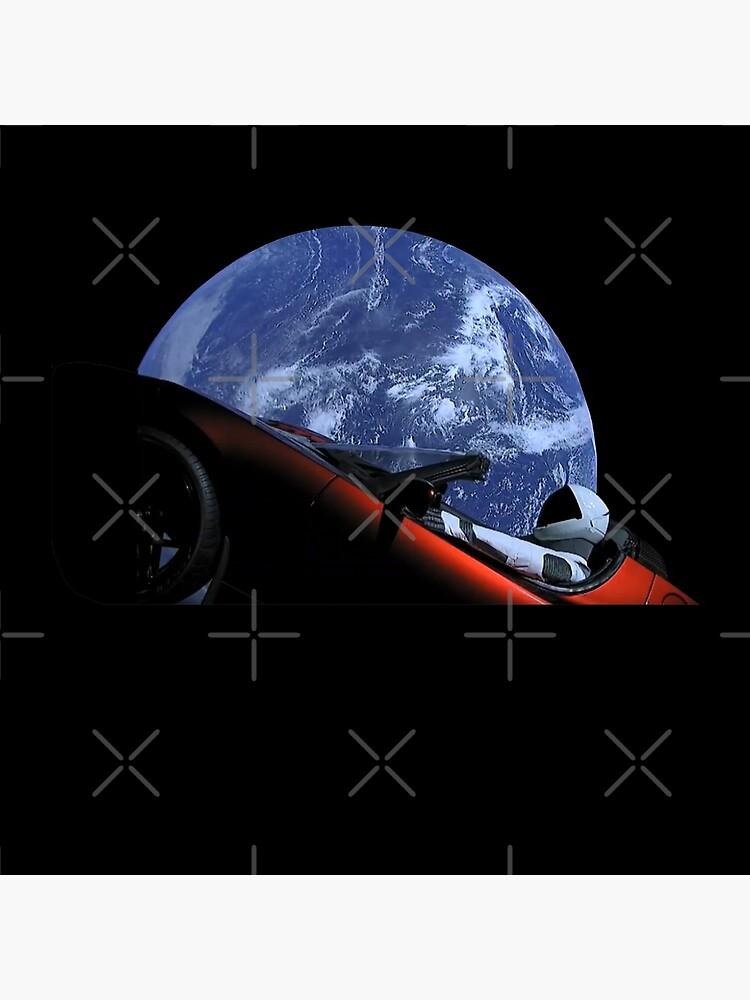 Starman in Tesla Roadster in Space by hadicazvysavaca