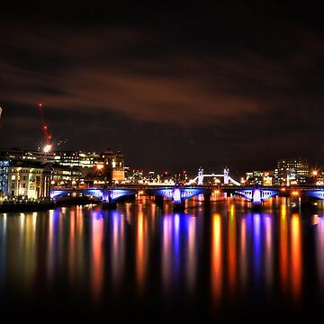 London At Night / England Capital / The Shard / Walkie Talkie / Millennium Bridge by MattyTM