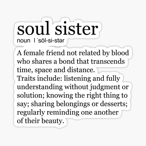 Soul Sister Sticker