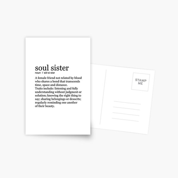Seelenschwester Postkarte