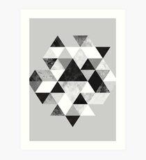 Grafik 202 Schwarz und Weiß Kunstdruck