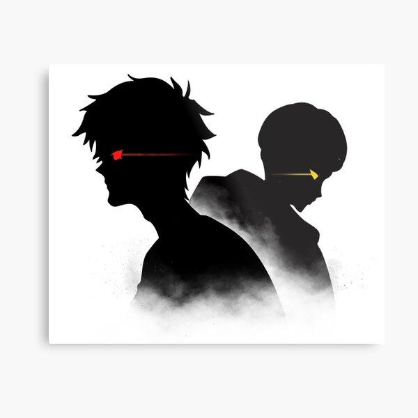 Devilman Crybaby - Ryo and Akira Silhouette Metal Print