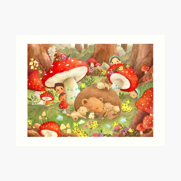 Watercolor Illustration | Forest Fantasy Art Print