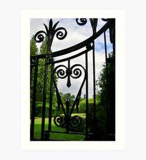 Garden Gate (detail) Art Print