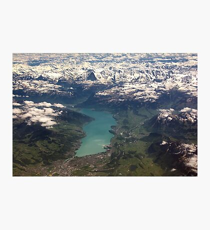 Lake Thun: North Face of the Eiger, Moench and Jungfrau Photographic Print