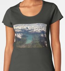 Lake Thun: North Face of the Eiger, Moench and Jungfrau Women's Premium T-Shirt