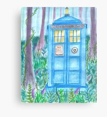 Tardis in the woods. (Doctor Who) Canvas Print