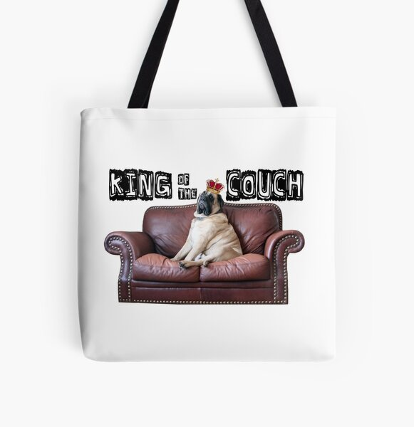 King of the Couch All Over Print Tote Bag