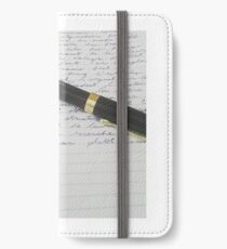 Pen and paper  iPhone Wallet/Case/Skin