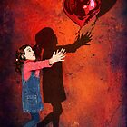 The love Balloons and little Girl by Dadang Lugu Mara Perdana