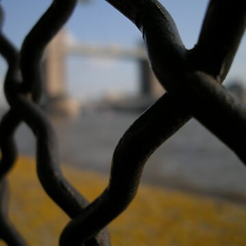 tower bridge behind grid by Wazuki