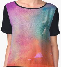 starburst glitter watercolor. Chiffon Top