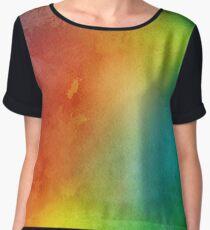 rainbow watercolor.  Chiffon Top