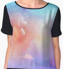 unicorn glitter watercolor. Chiffon Top