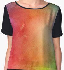 abstract rainbow watercolor. Chiffon Top
