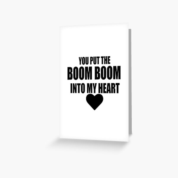 BOOM BOOM WHAM! Carte de vœux