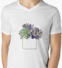 purple succulent friend. Men's V-Neck T-Shirt