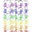 Meowlympic Rainbow by evilflea