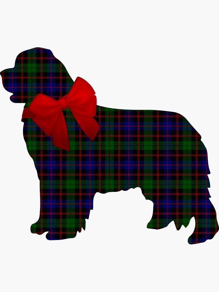 Scottish Newfoundland Dog with Morrison Plaid by itsmechris