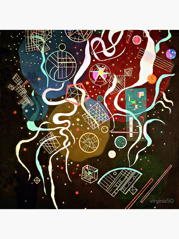 Kandinsky - Movement I, abstract art by virginia50