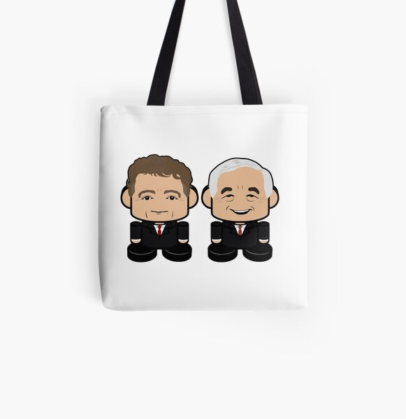 Rude Paul & Randy Daddy: Greater Together Politico'bot Toy Robots All Over Print Tote Bag