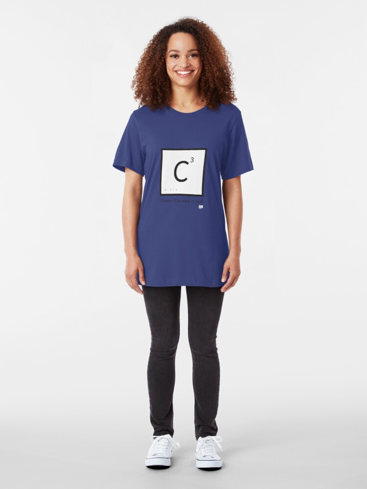 Alternate view of Chaos Causes Cash Slim Fit T-Shirt