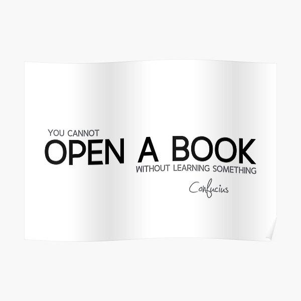 open a book - confucius Poster