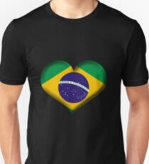 Brazil Heart Flag Unisex T-Shirt