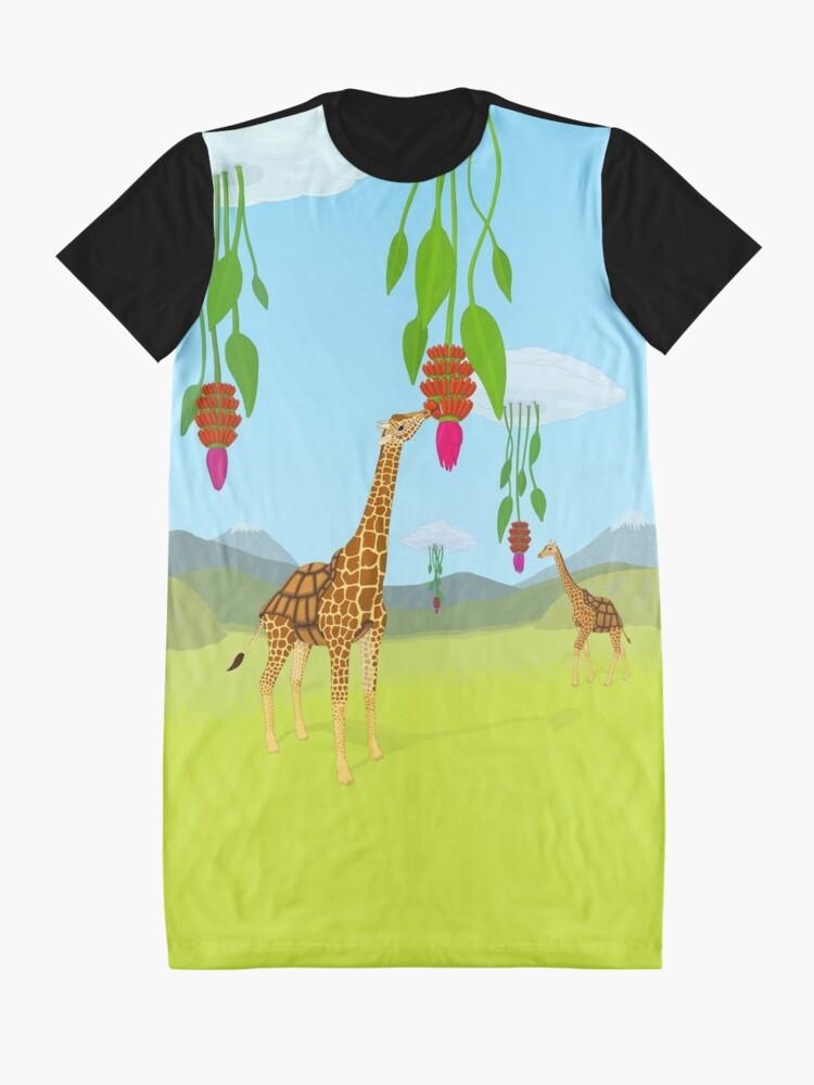 Alternate view of Giraffe, Tortoise? Girtoise! Graphic T-Shirt Dress