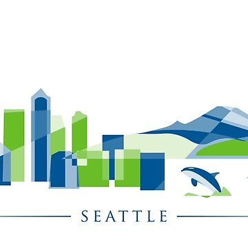 Seattle Skyline | Poly by abowersock