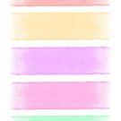 Minimalist Multicoloured Pastel Print by Fangpunk