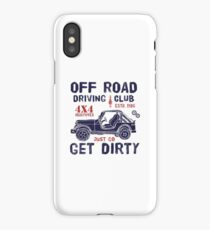 Off Road Driving Club Get Dirty Retro Vintage iPhone Case/Skin