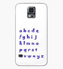 Alphabet blue letters Case/Skin for Samsung Galaxy