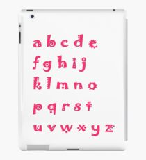 Alphabet red letters iPad Case/Skin