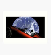 Tesla Starman Roadster Art Print