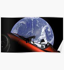 Tesla Starman Roadster Poster