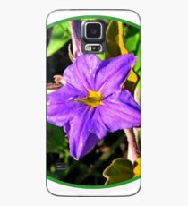 Purple Flower Case/Skin for Samsung Galaxy