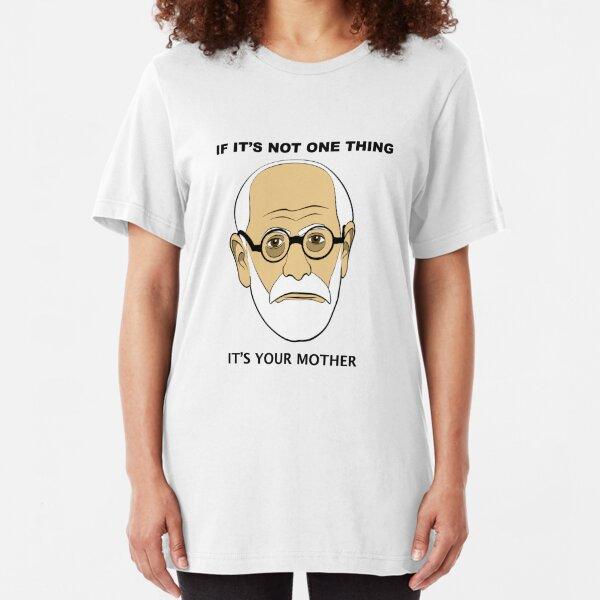 PSYCHOLOGY FUN - Sigmund Freud Image & Saying Slim Fit T-Shirt